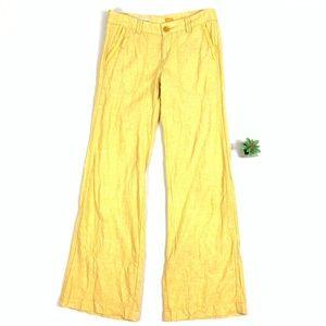Pilcro & the letterpress Yellow Linen Blend Pants